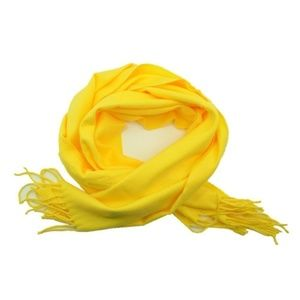 Accessories - Yellow Cashmere Scarf Soft New